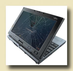 Счупен панел на екрана